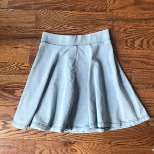 Denim Circle Skirt